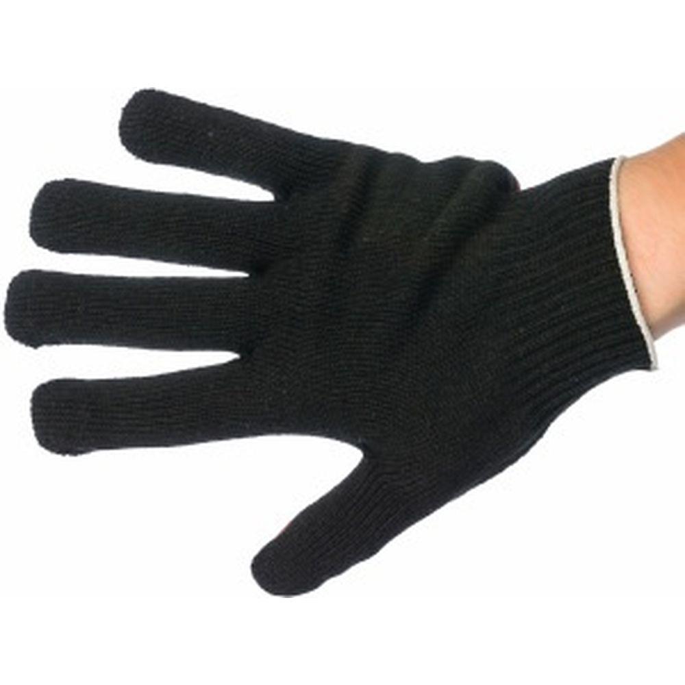 Вязаные полушерстяные перчатки с ПВХ нанесением Точка Gigant G-202