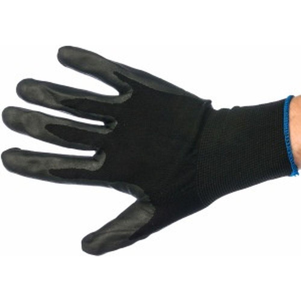 Вязаные нейлоновые перчатки с нитриловым покрытием Gigant 12 шт. G-014