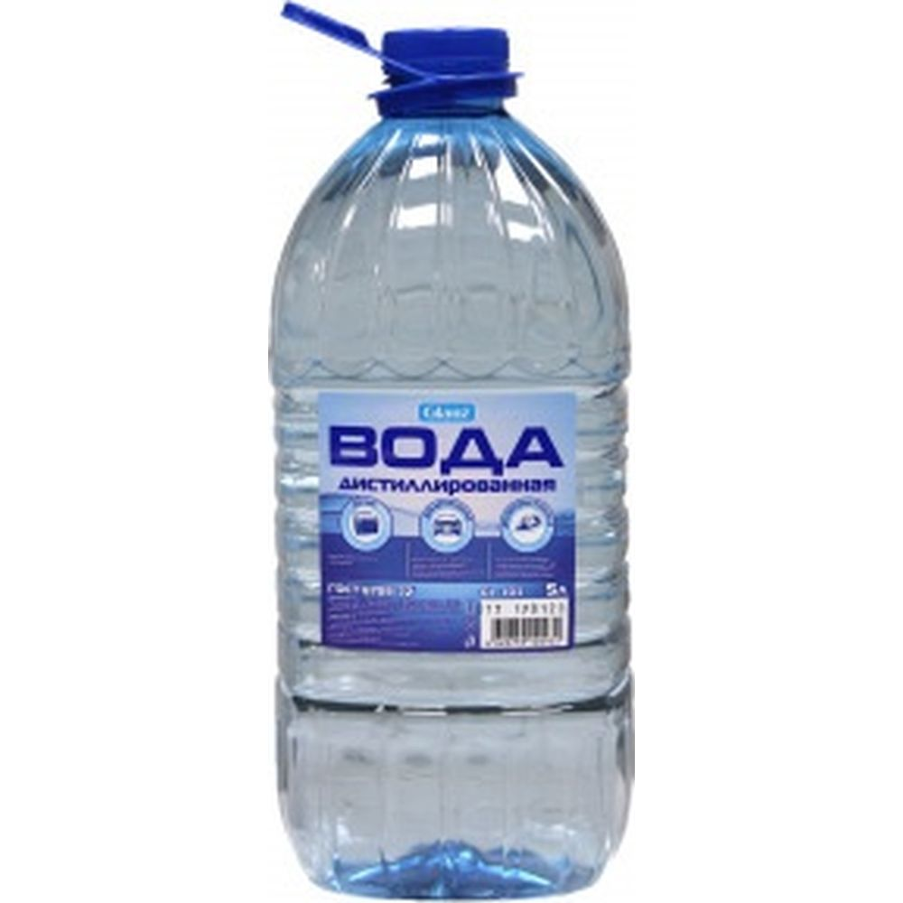 Вода дистиллированная 5 л Glanz GL-103