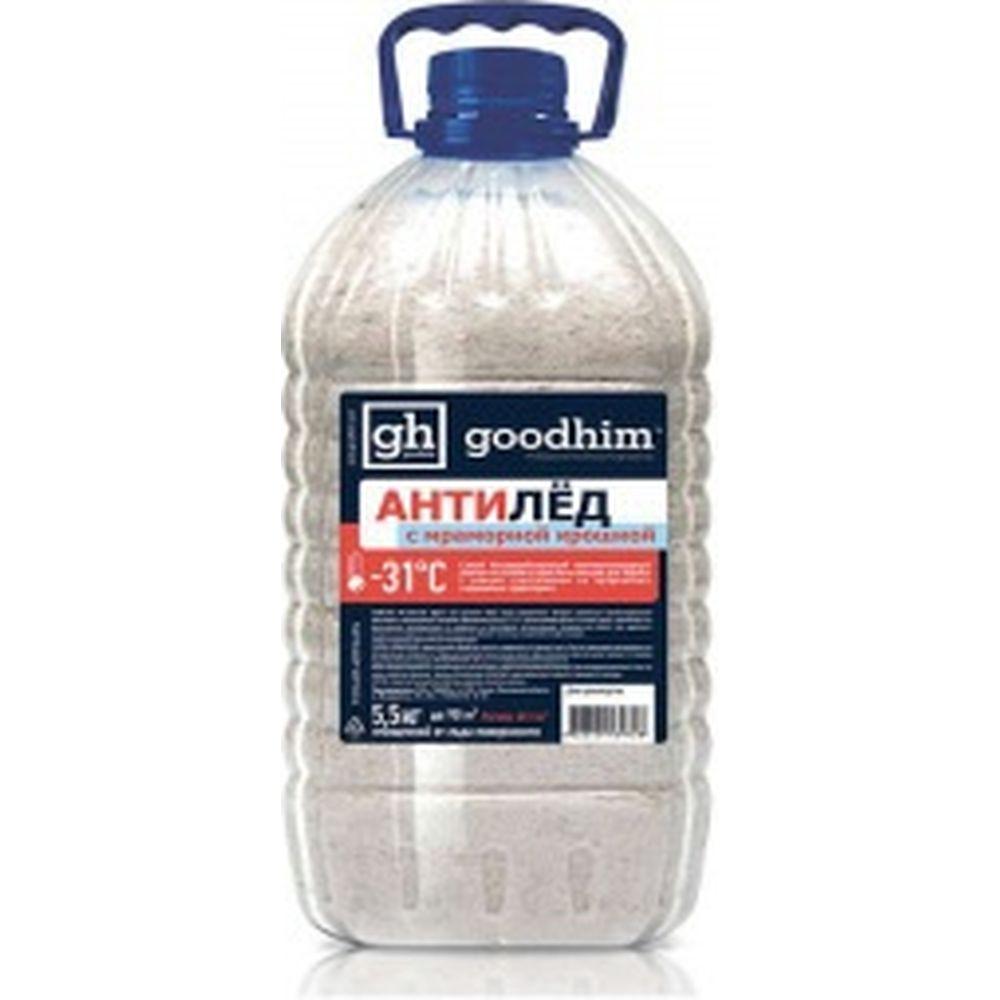 Сухой антигололедный реагент с мраморной крошкой Goodhim 500G гранулы, 5кг 39728