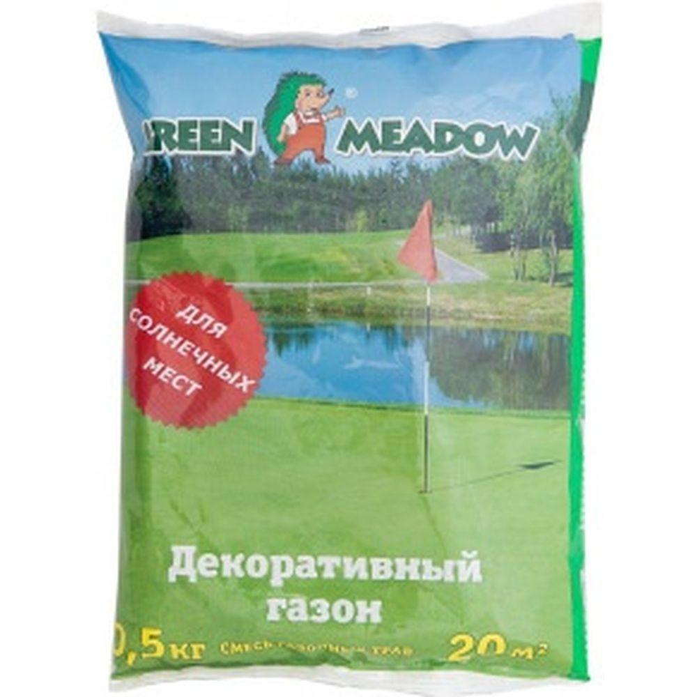 Семена газона GREEN MEADOW Декоративный газон Солнечный 0.5 кг 4607160331584
