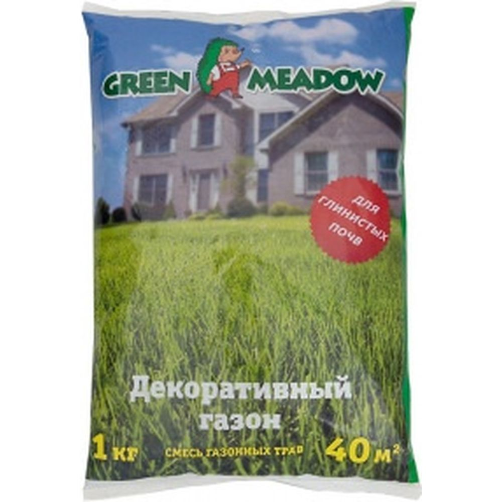 Семена газона GREEN MEADOW Декоративный газон для глинистых почв 1 кг 4607160330631