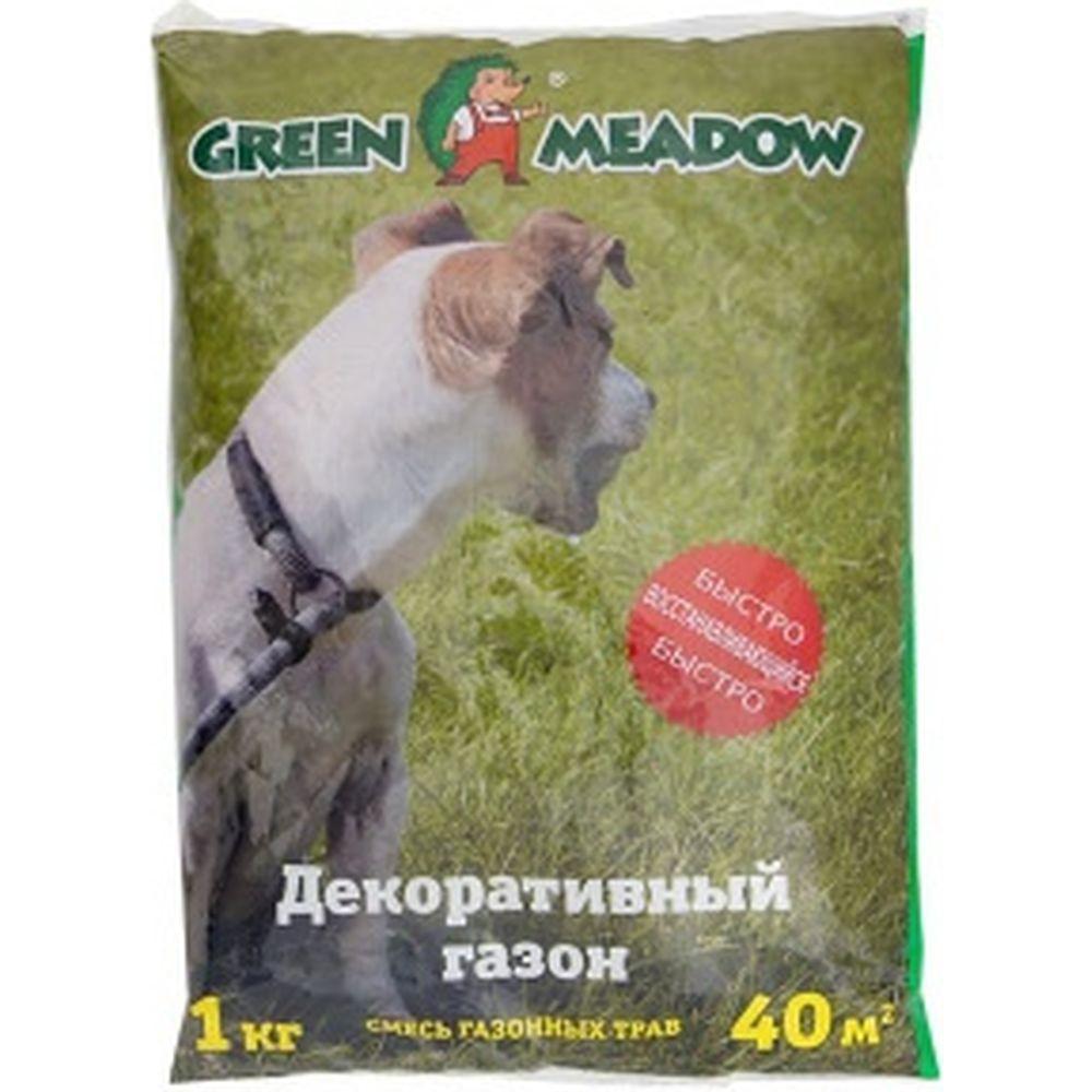 Семена газона GREEN MEADOW для восстановления и ремонта поврежденных участков на газоне 1 кг 4607160330662