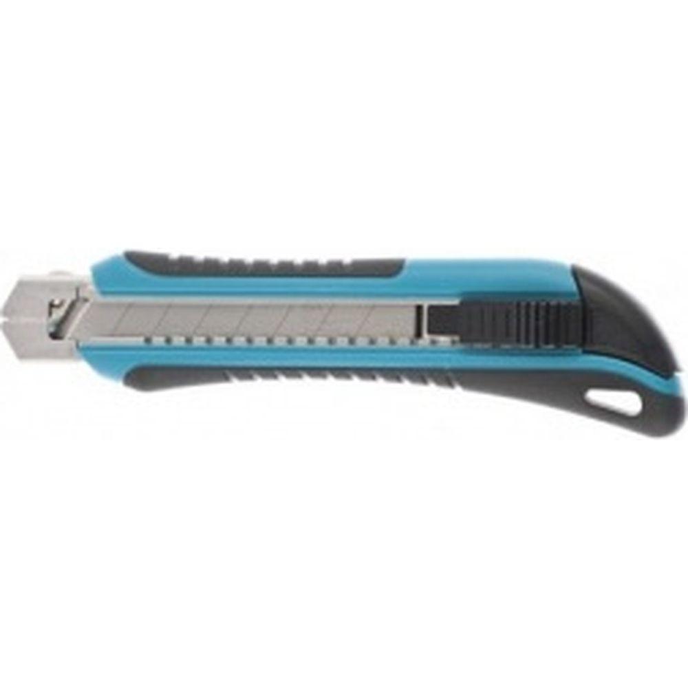 Нож 170 мм обрезиненный ABS - корпус, выдвижное сегментное лезвие 18 мм GROSS 78893