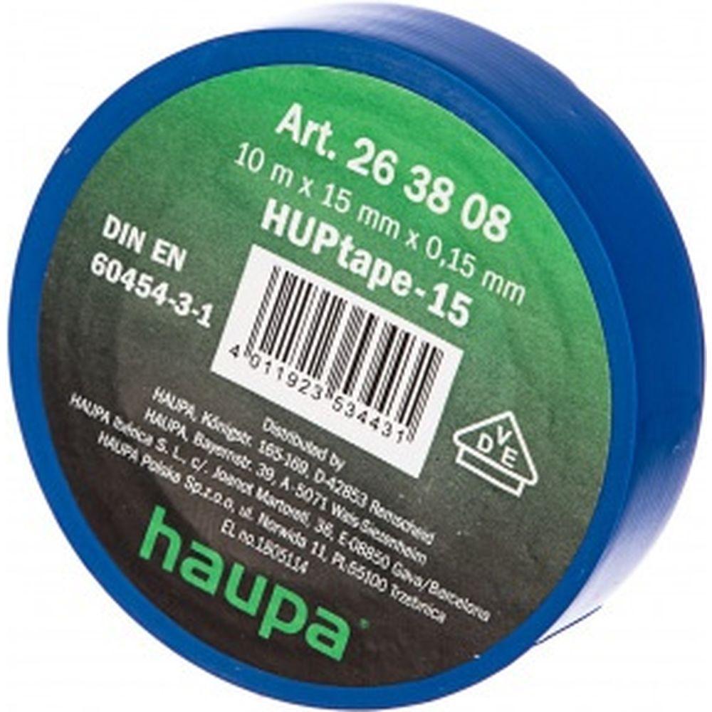 Изолента HAUPA ПВХ синий 15ммх10 м, d 60 мм 263808