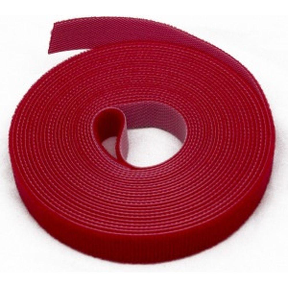 Лента (липучка) в рулоне Hyperline WASNR-5x25-RD ширина 25 мм, длина 5 м, красная 401696