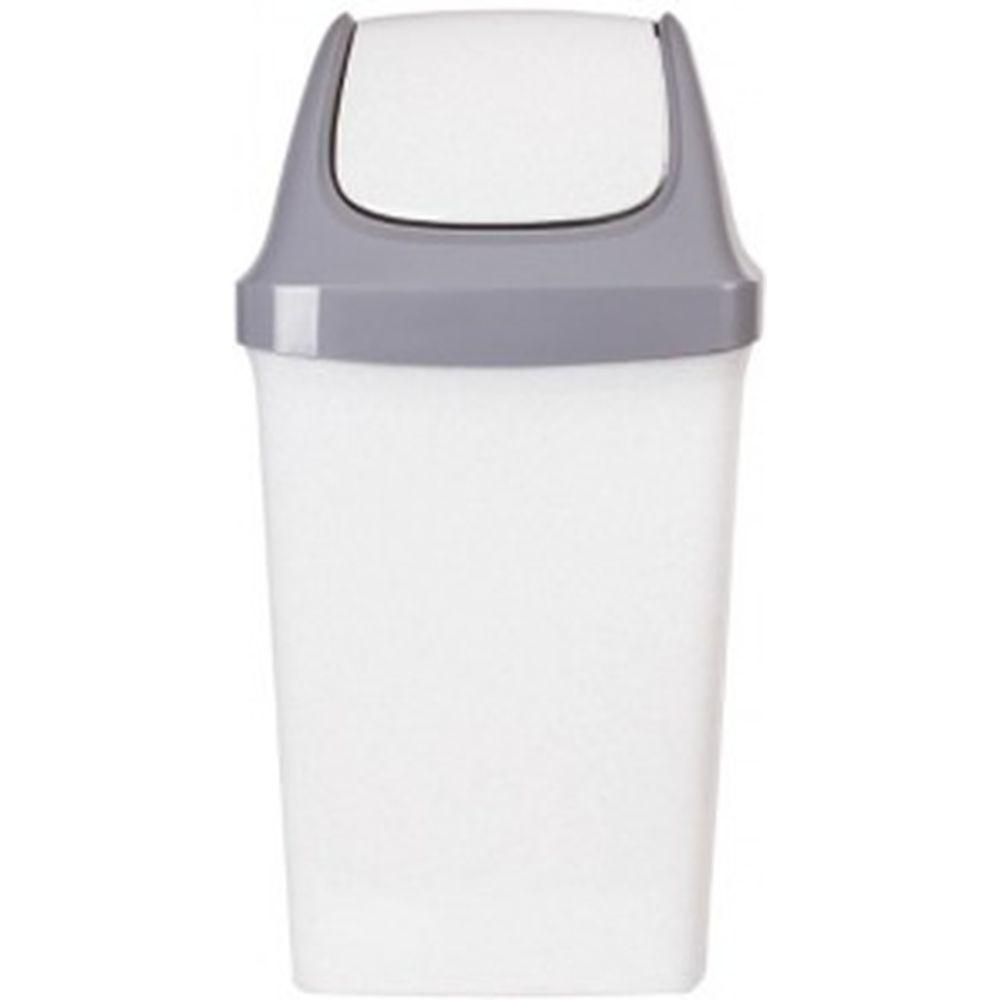 Ведро-контейнер с крышкой для мусора IDEA 50л, Свинг 74х40х35 см, серое М2464 600160