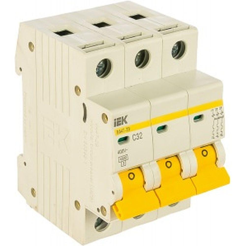 Автоматический 3-полюсный выключатель, 32А, С ВА47-29 4.5кА IEK MVA20-3-032-C