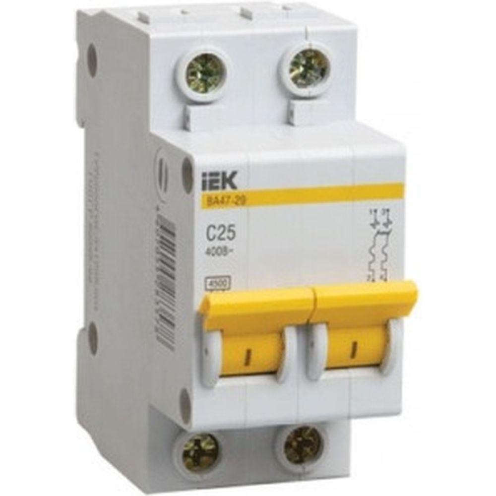 Автоматический 2-полюсный выключатель, 2А, С ВА47-29 4.5кА IEK MVA20-2-002-C