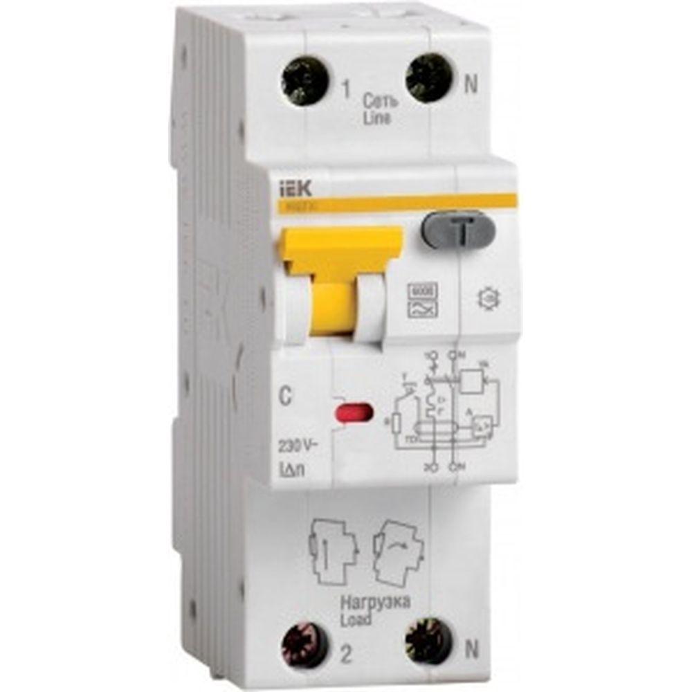 Автоматический выключатель дифференциального тока 1п+N C 10A 30mA тип A 6kA IEK АВДТ-32 MAD22-5-010-C-30 123193