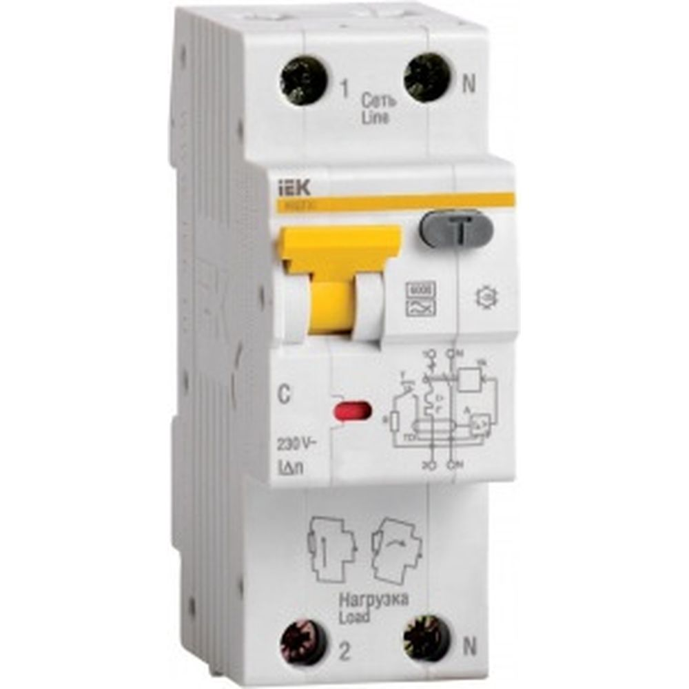 Автоматический выключатель дифференциального тока 1п+N С 20А 30мА IEK АВДТ-32 MAD22-5-020-C-30 133611