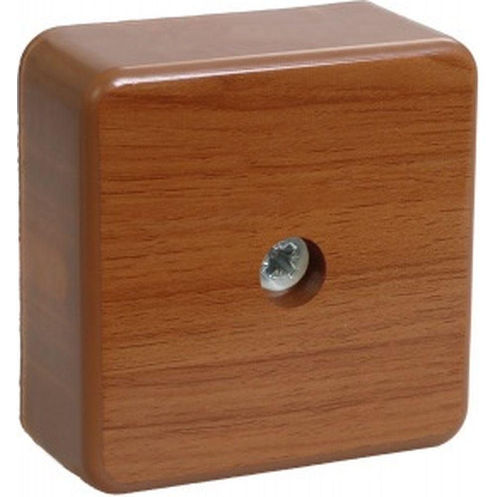 Коробка IEK КМ41206-05, распаячная, для о/п, 50х50х20 мм, дуб, 4 клеммы, 3мм2 UKO10-050-050-020-K24