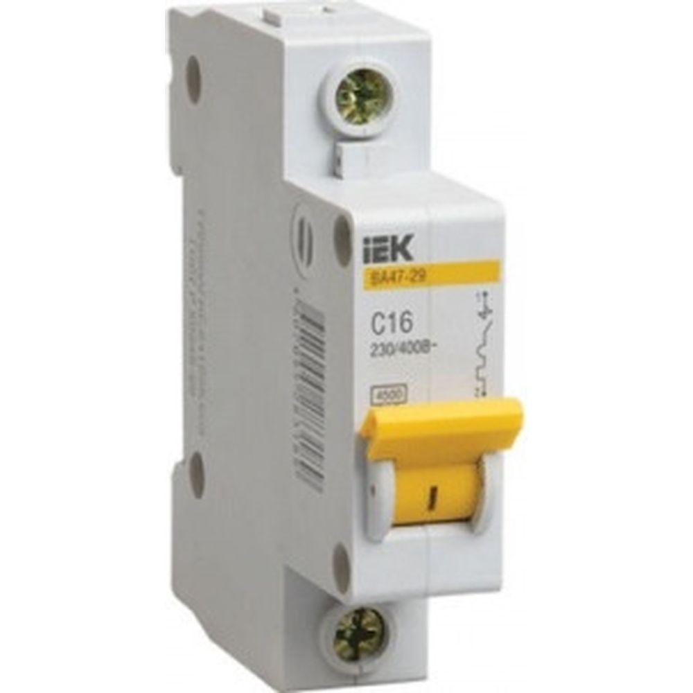 Автоматический 1-полюсный выключатель, 1А, С ВА47-29 4.5кА IEK MVA20-1-001-C
