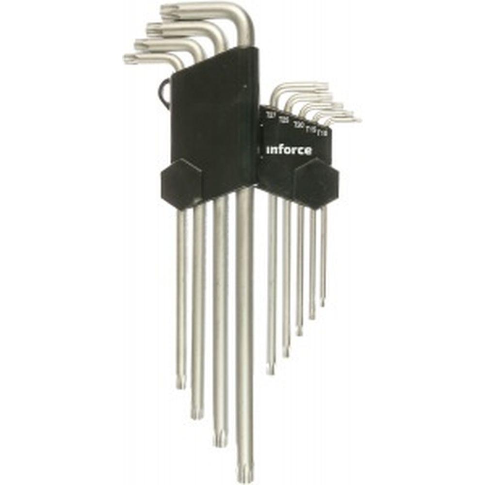 Набор экстра-длинных ключей Inforce TORX 9 штук 06-05-96