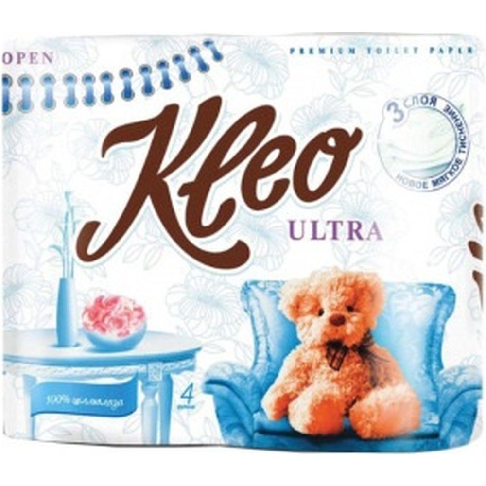 Бытовая туалетная бумага KLEO Ultra 3-х слойная C86 111333