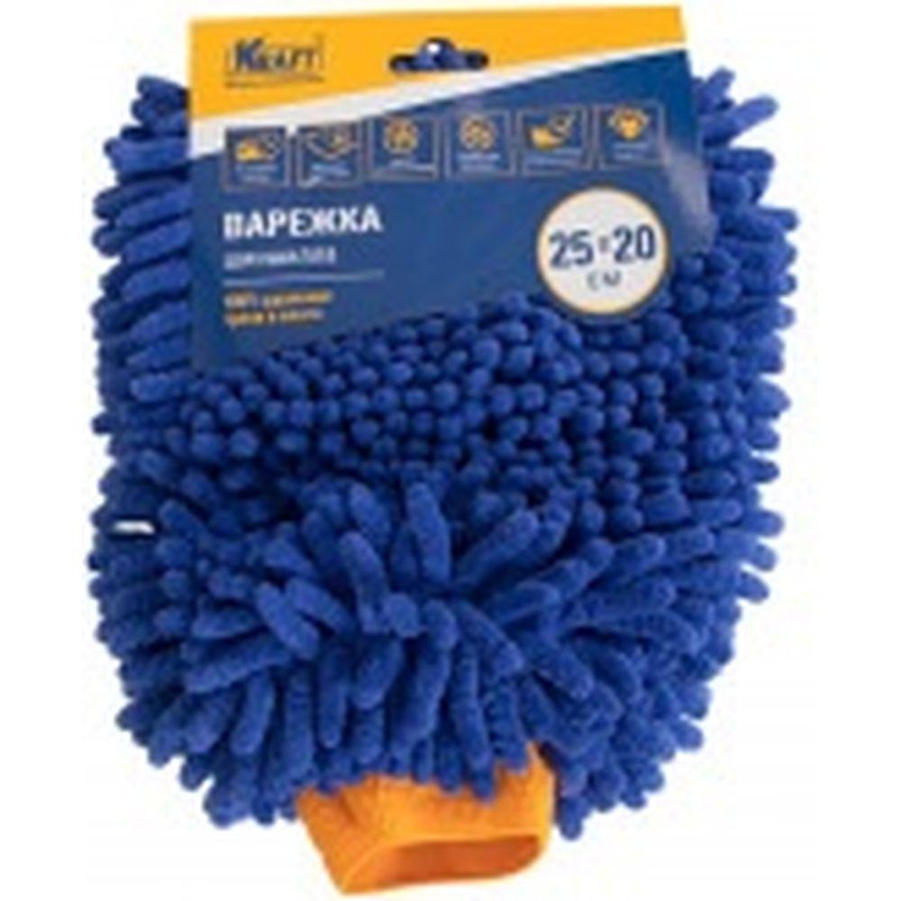 Губка для мытья из микрофибры Варежка-шиншилла 25x20 см KRAFT KT 860606