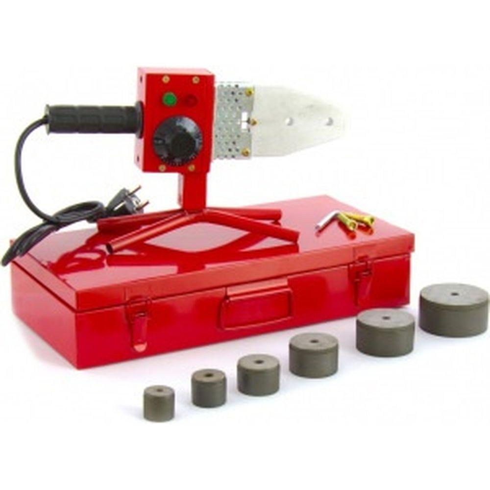 Аппарат для сварки пласт труб KRONWERK КW800 800 Вт, 300 C, насадки 20-25-32-40-50-63 мм, меткейс 94214