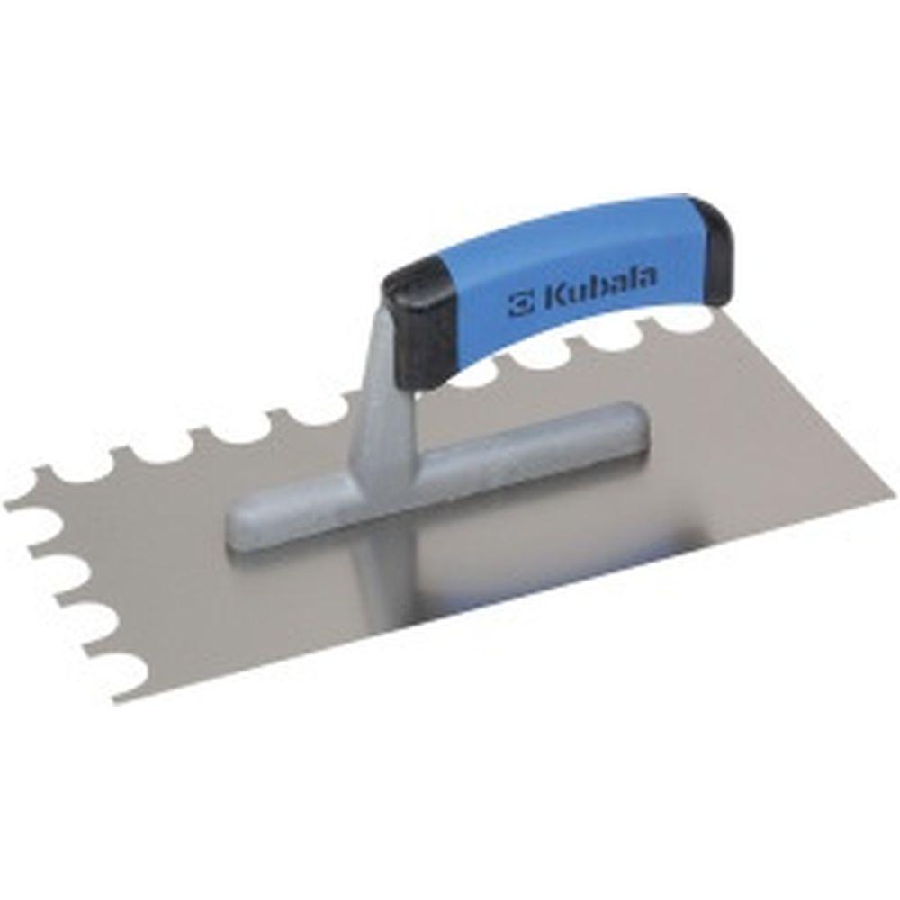 Зубчатая гладилка из нержавеющей стали KUBALA 130x270 мм, ручка G-1 0463