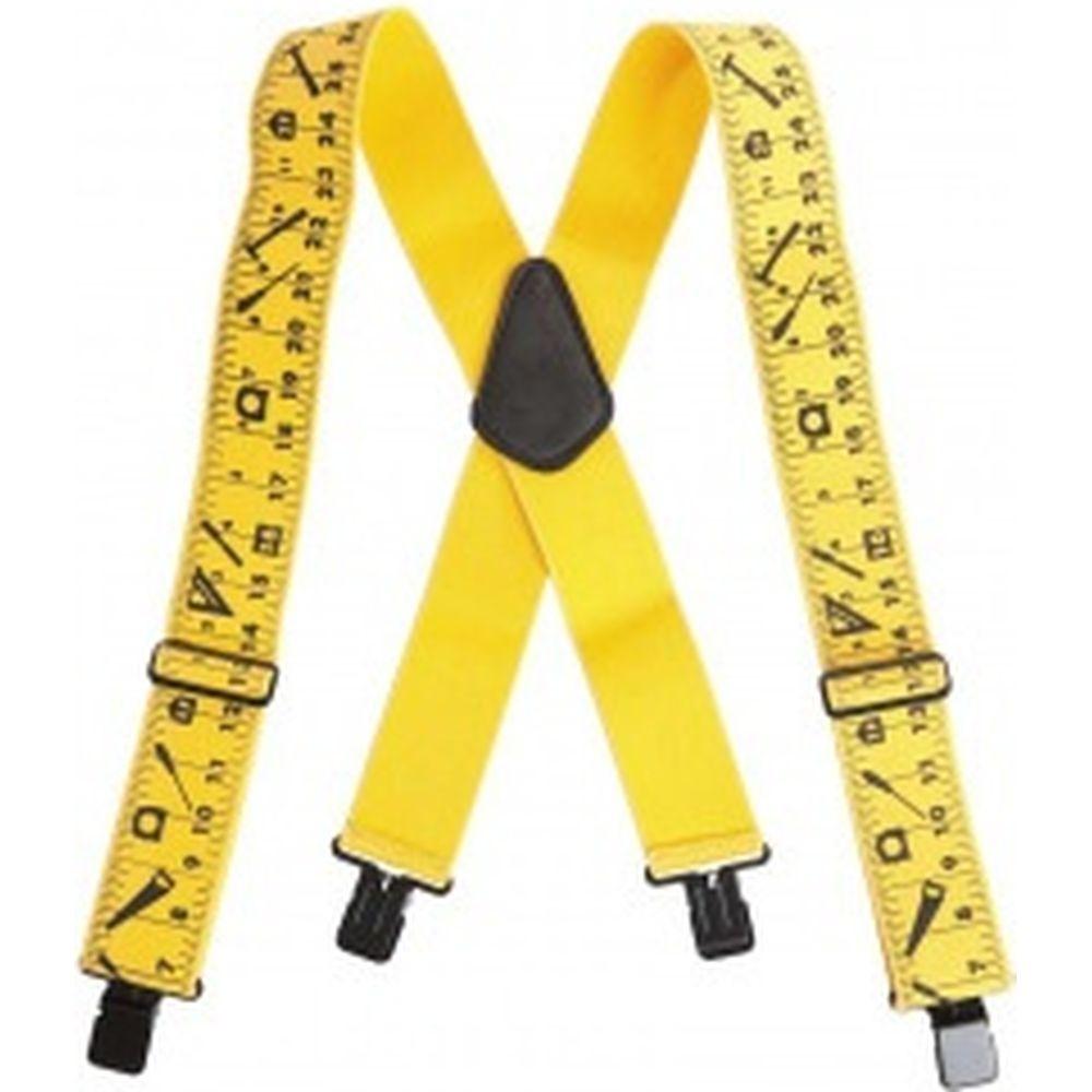 Эластичные подтяжки KWB желтые с рисунком, 100х5 см 908400
