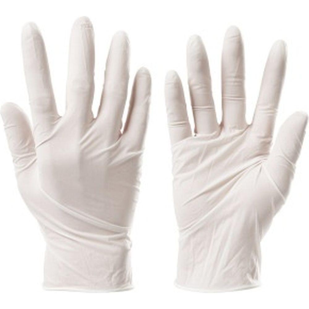 Виниловые неопудренные перчатки ЛАЙМА, белые, размер S, 50 пар 605009