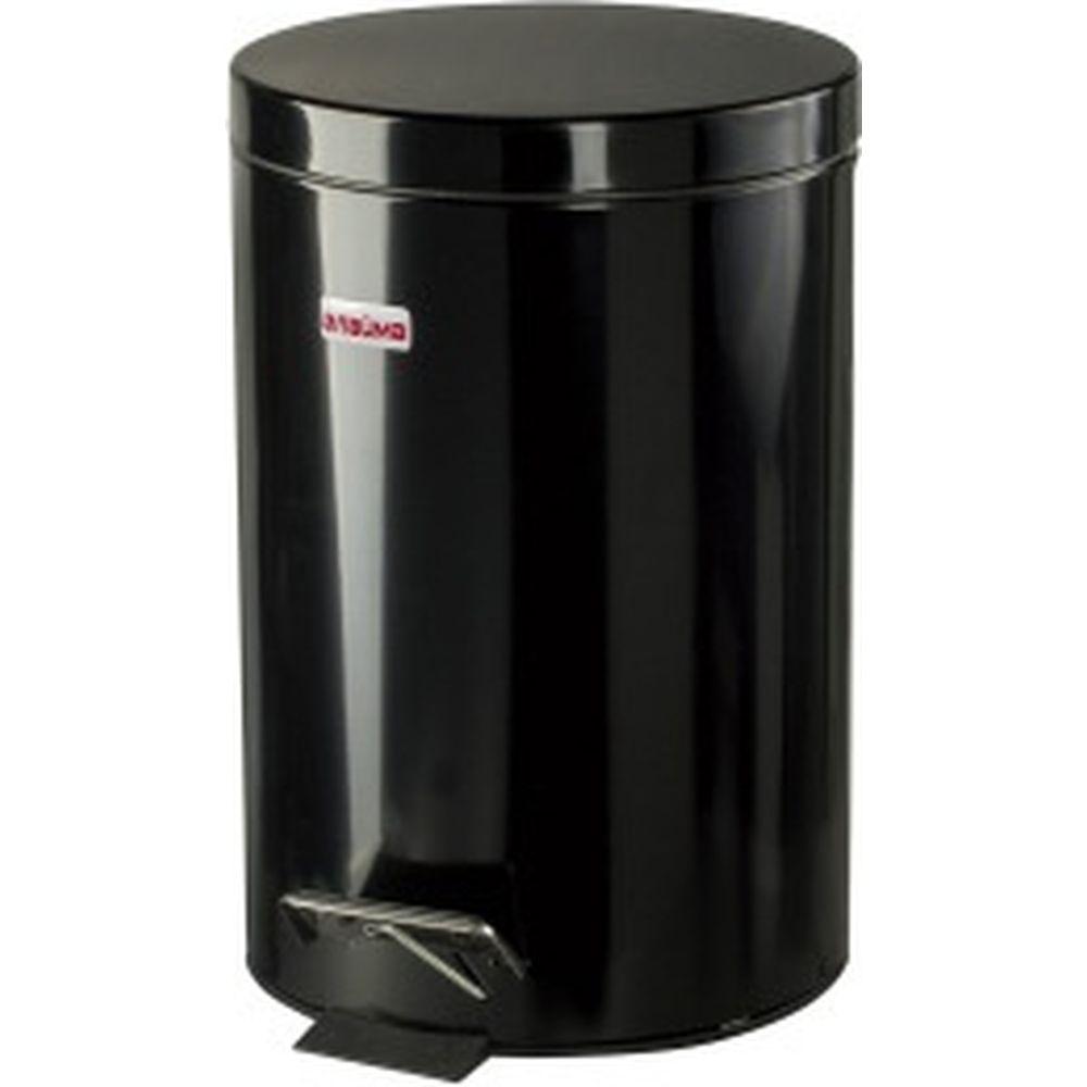 Ведро-контейнер для мусора с педалью ЛАЙМА 12 л, черное 602850
