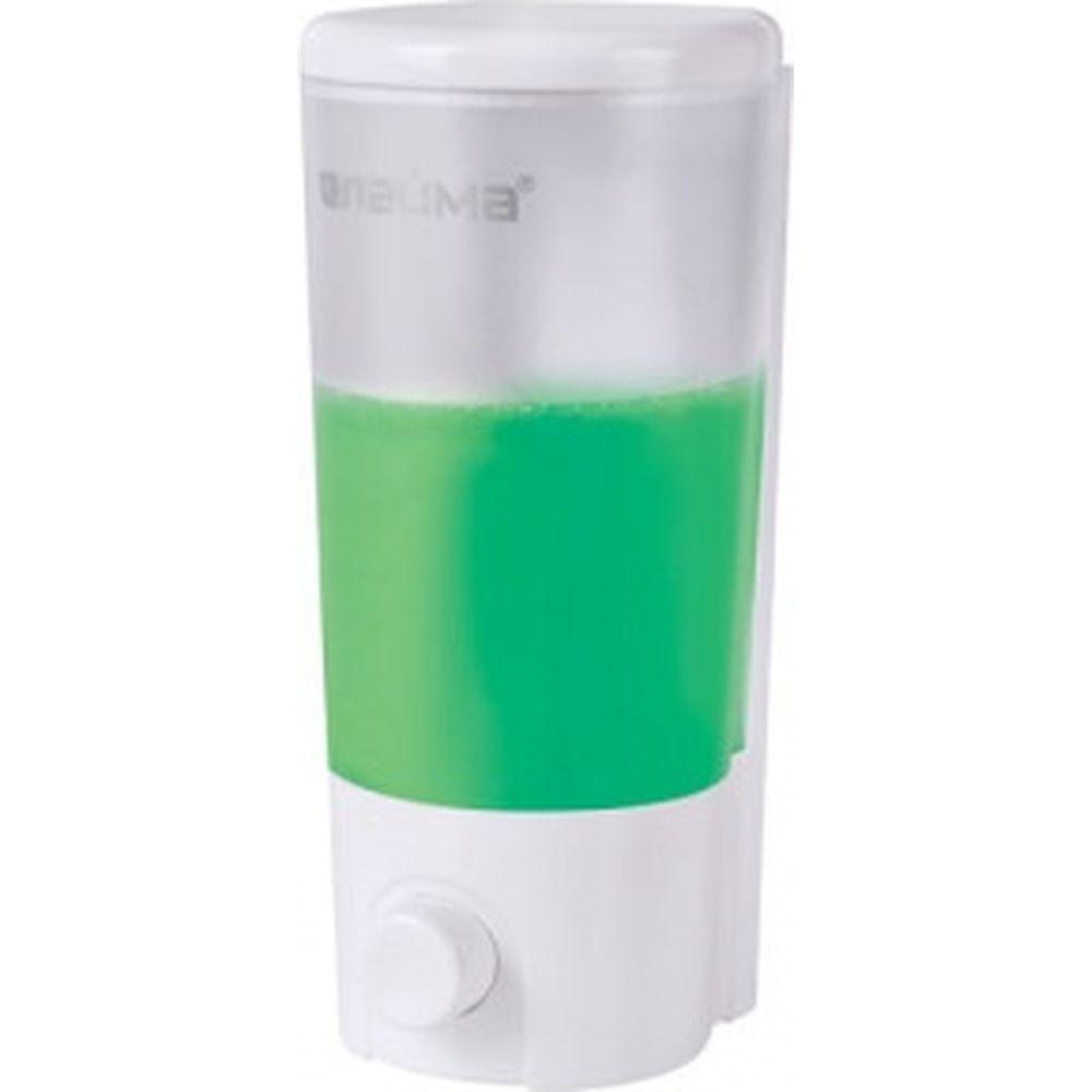 Диспенсер для жидкого мыла ЛАЙМА наливной, 0,38 л, ABS-пластик, белый 603922