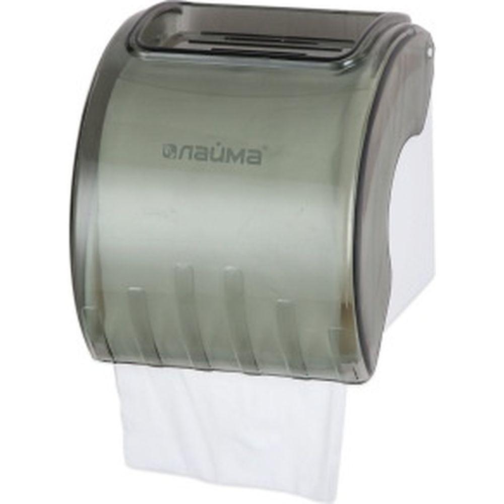 Диспенсер для туалетной бумаги в стандартных рулонах ЛАЙМА тонированный серый 605044