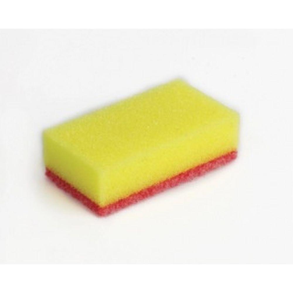 Бытовые губки для мытья посуды ЛЮБАША КОМПЛЕКТ 10шт поролон/абразив 20х65х95мм 605545