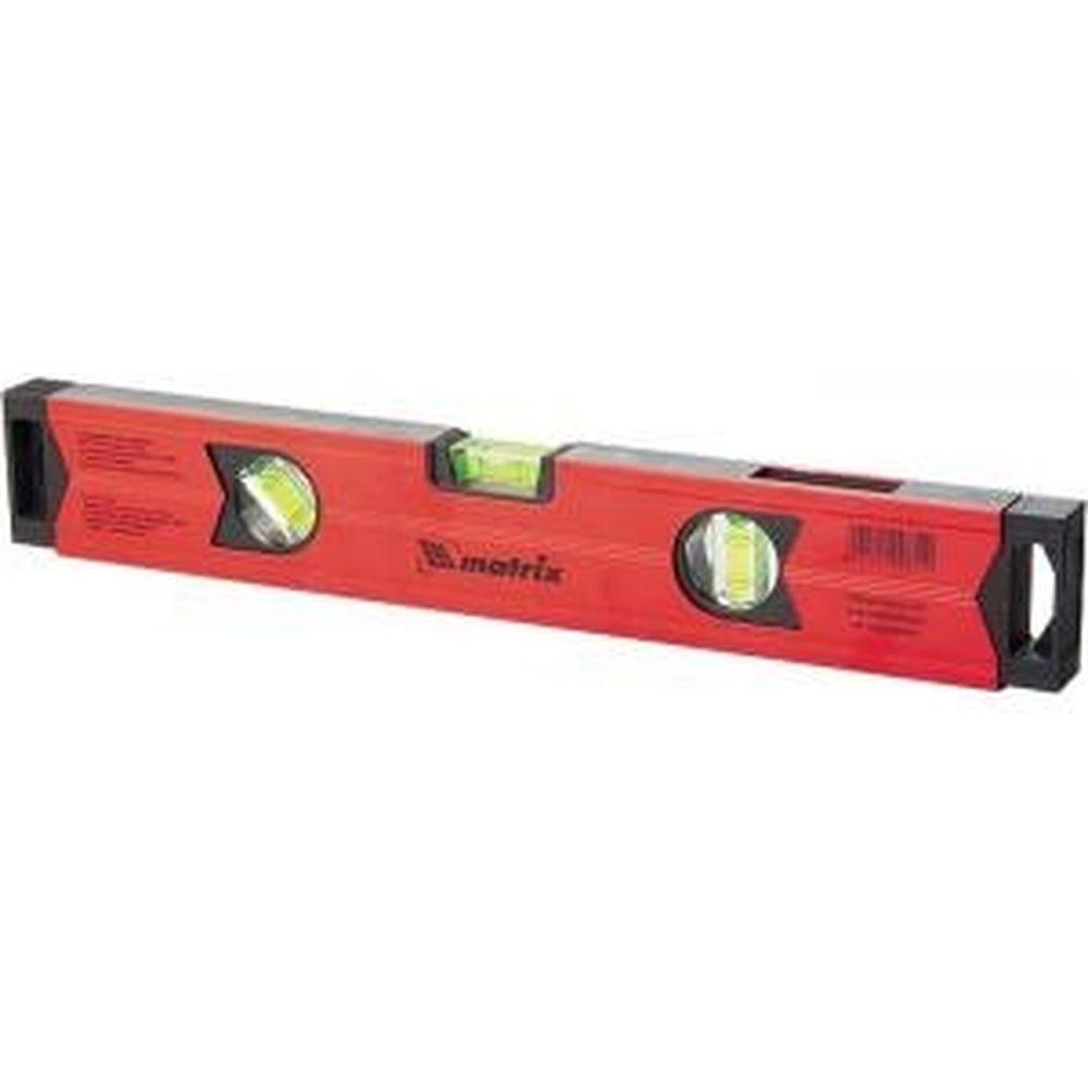 Алюминиевый магнитный уровень 1500 мм, фрезерованный, 3 глазка , усиленный MATRIX 34715