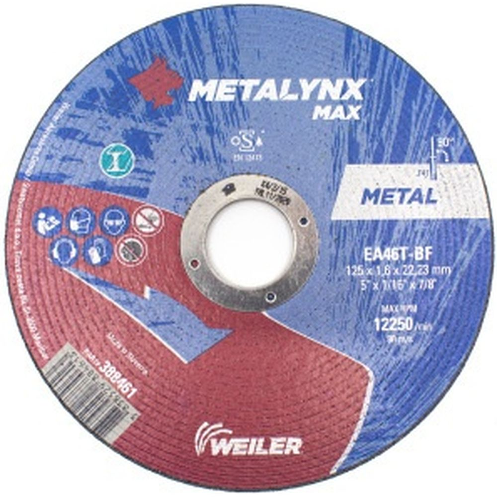 Круг отрезной (125x1.6x22.23 мм; F41 EA46T-BF) Metalynx 388461