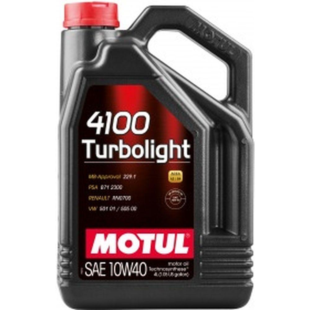 Моторное масло 4100 Turbolight 10W40 4л MOTUL 109462