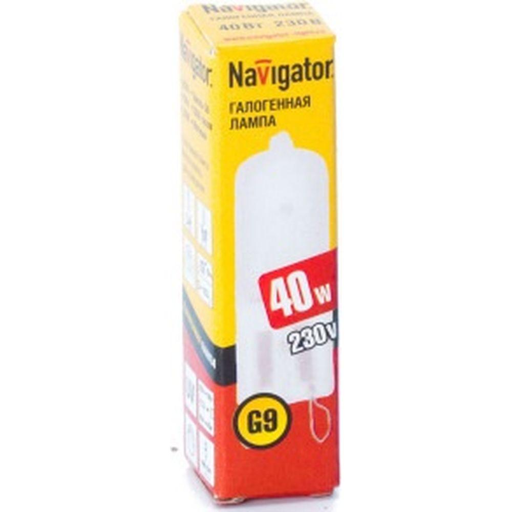 Галогенная лампа Navigator 94 232 JCD9 40Вт frost G9 230В 2000h 4607136942325 128328