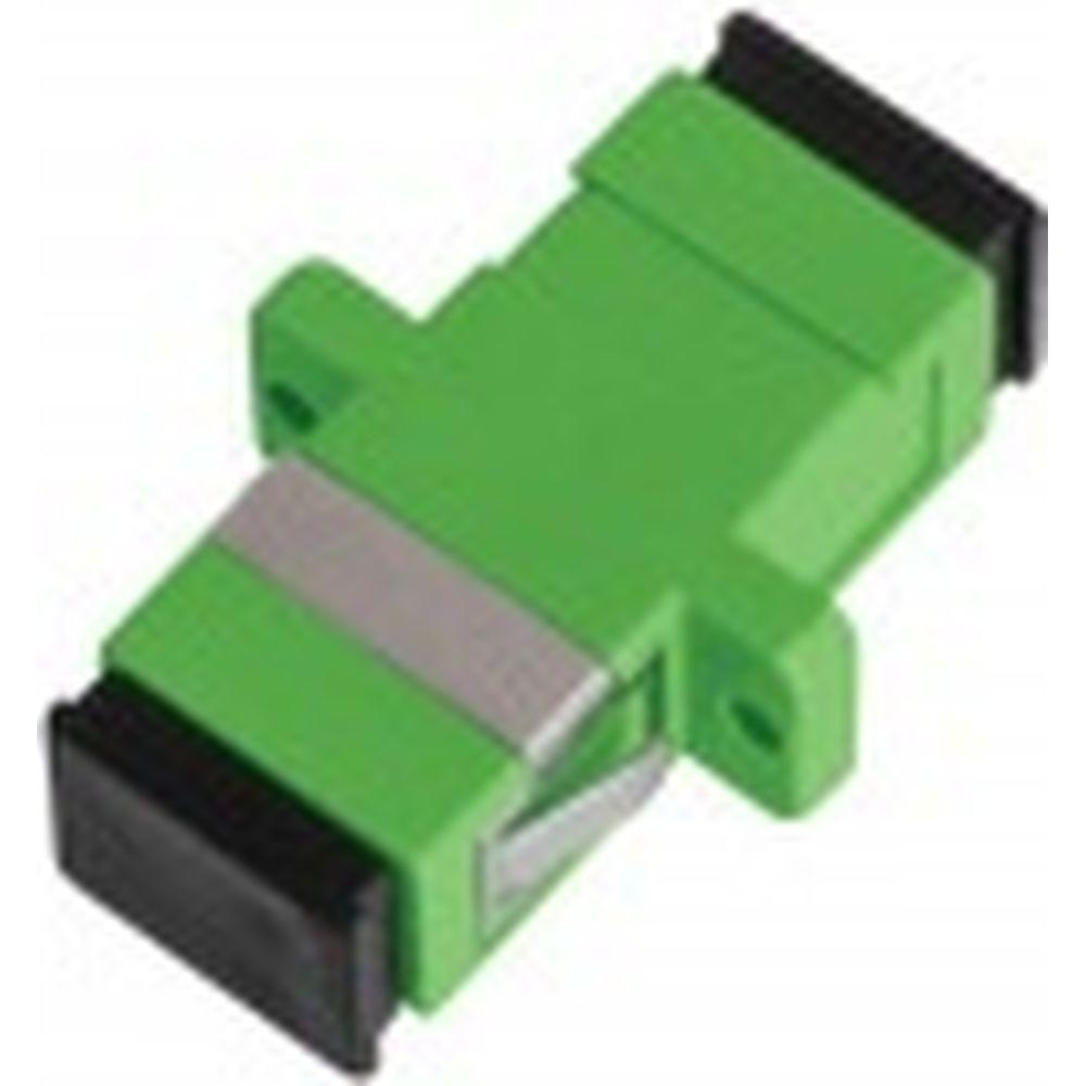 Волоконно-оптический адаптер NIKOMAX соединительный, зеленый, уп-ка 2шт. NMF-OA1SM-SCA-SCA-2