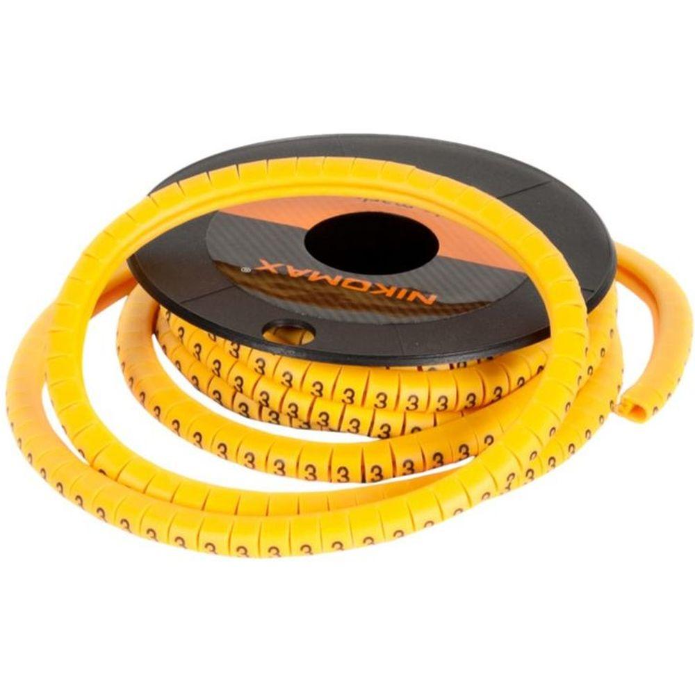 Кабельный маркер NIKOMAX цифра 4, желтый, 500 шт. NMC-CMR-4-YL-500