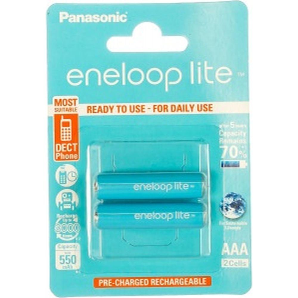 Аккумулятор R03 AAA eneloop lite Ni-MH 550mAh предзаряженный бл/2 Panasonic 5410853052753