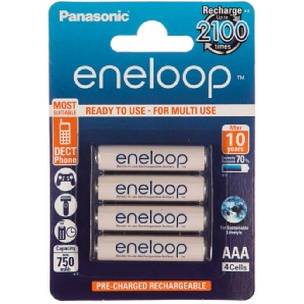 Аккумулятор R03 AAA eneloop Ni-MH 750mAh предзаряженный бл/4 Panasonic 5410853052685