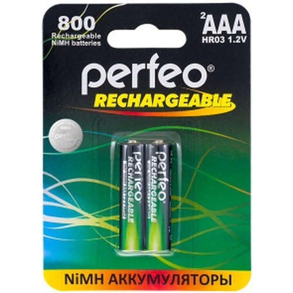 Аккумулятор PERFEO AAA800mAh 2 шт блистер 30007014