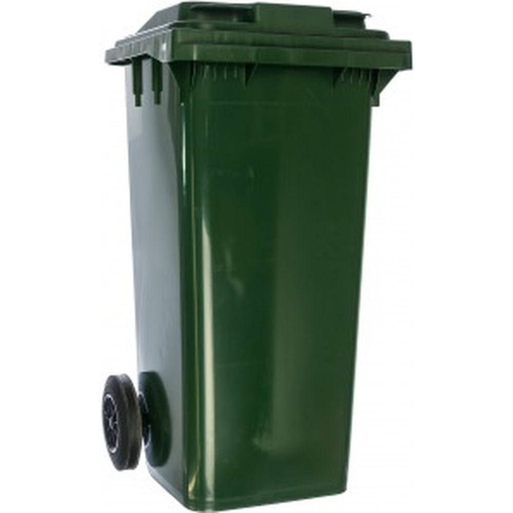 Передвижной мусорный контейнер (120 литров с крышкой, зеленый) Пластик Система 23.C29