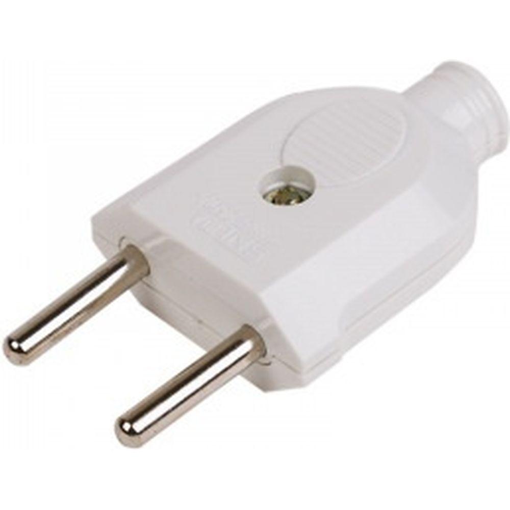 Прямая вилка PROconnect б/з белая 10 А 11-8533