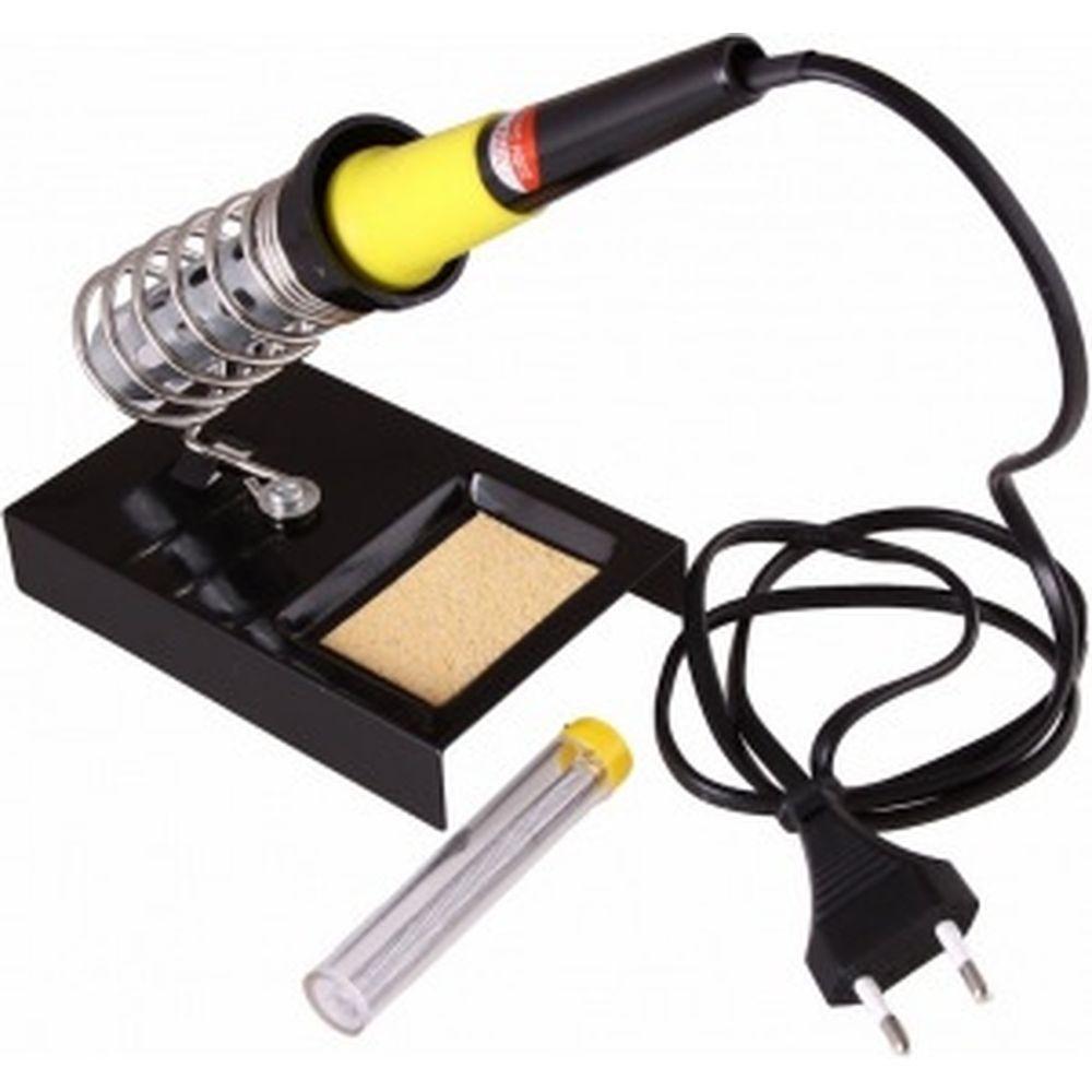 Набор для пайки: паяльник 30Вт, оловоотсос, подставка, припой REXANT ZD-303 12-0163