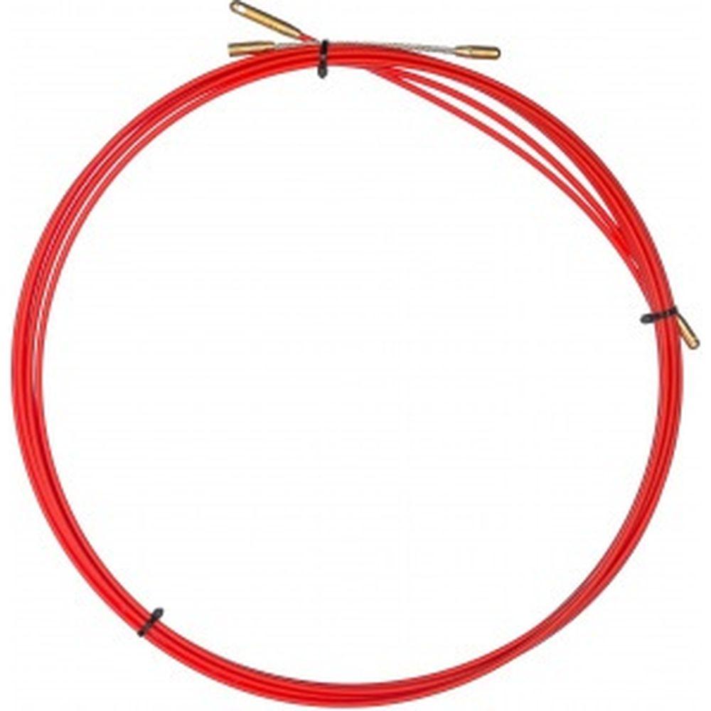 Кабельная протяжка (мини УЗК в бухте, стеклопруток, d=3,5мм, 5м, красная) REXANT 47-1005