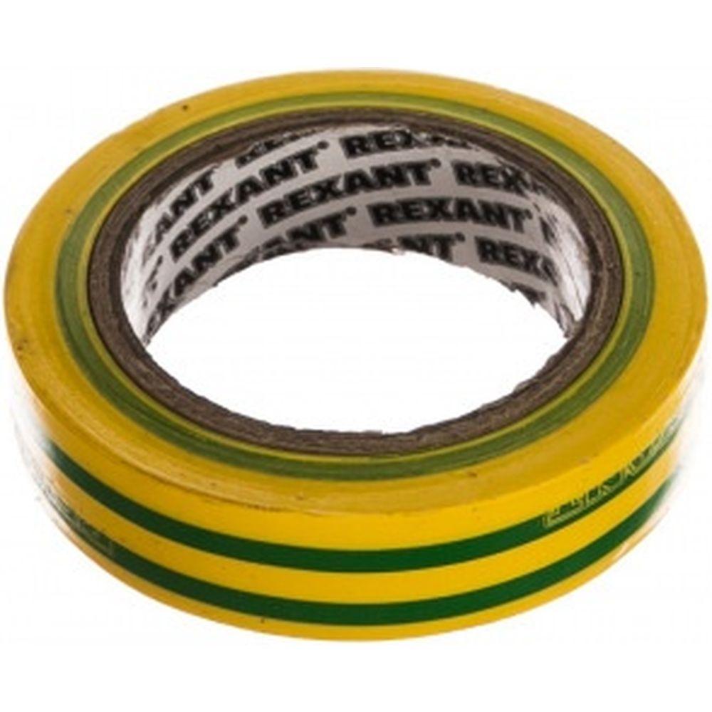 Изолента REXANT 15мм х 10м желто-зеленая 09-2007