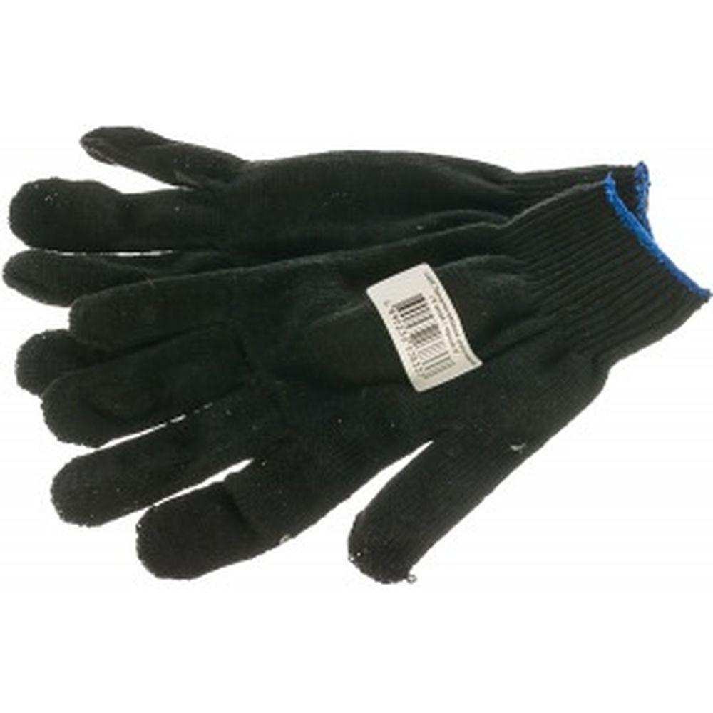 Вязаные утепленные перчатки РОС черные 12496