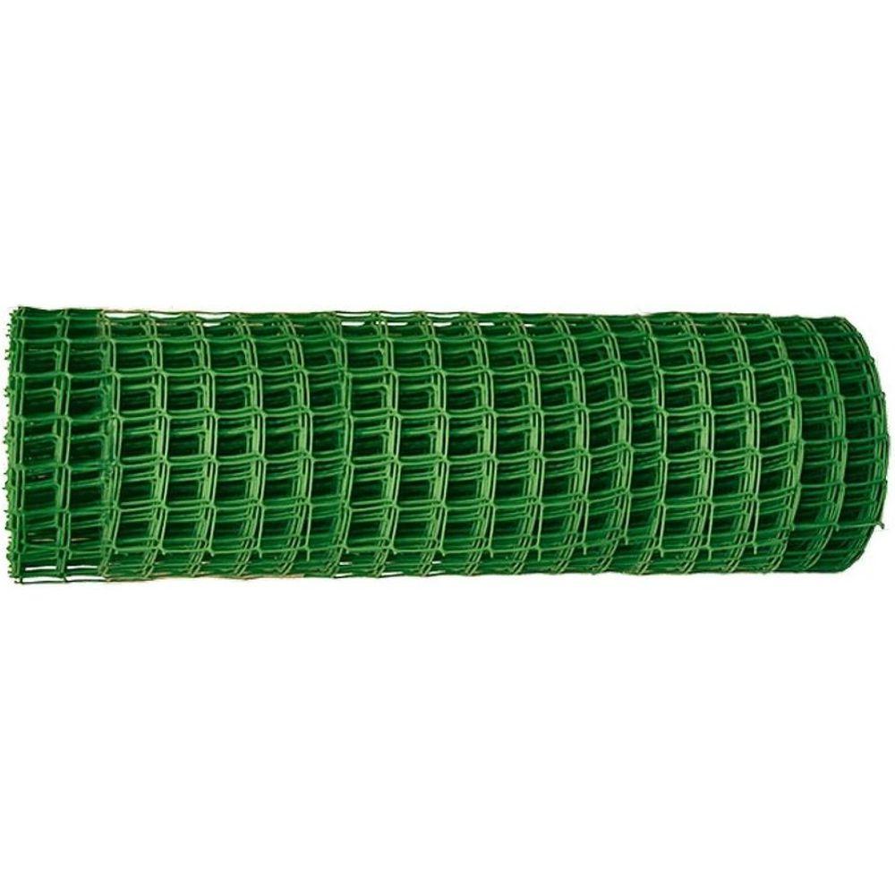 Заборная решетка в рулоне Россия 1,5x25 м, ячейка 75x75 мм, хаки 64535