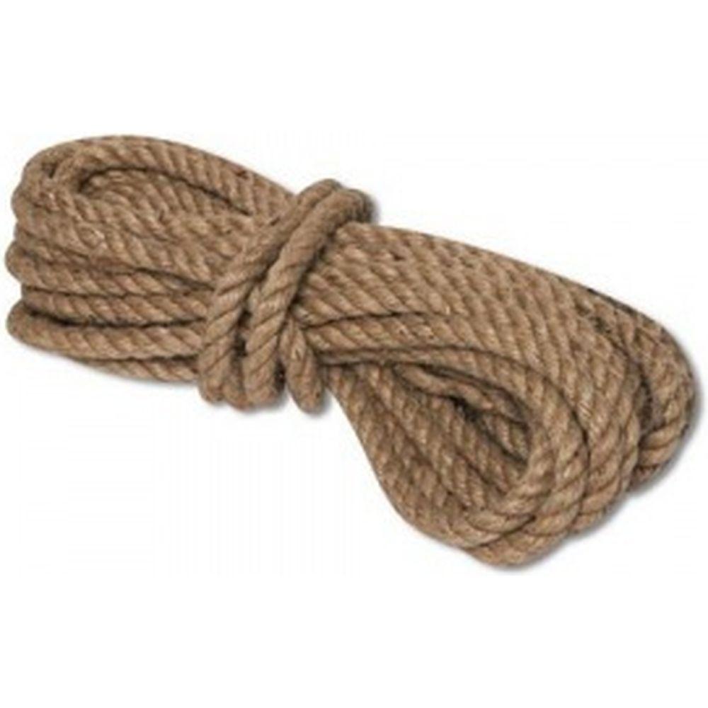 Джутовая крученая веревка ЩИТ ВД Д 3-х прядная д. 10 мм в мотках по 10 метров