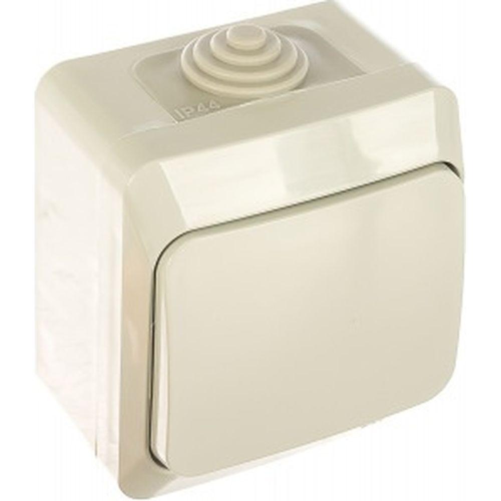 1-клавишный выключатель Schneider Electric ОП Этюд 10А IP44 сер. SchE BA10-041C
