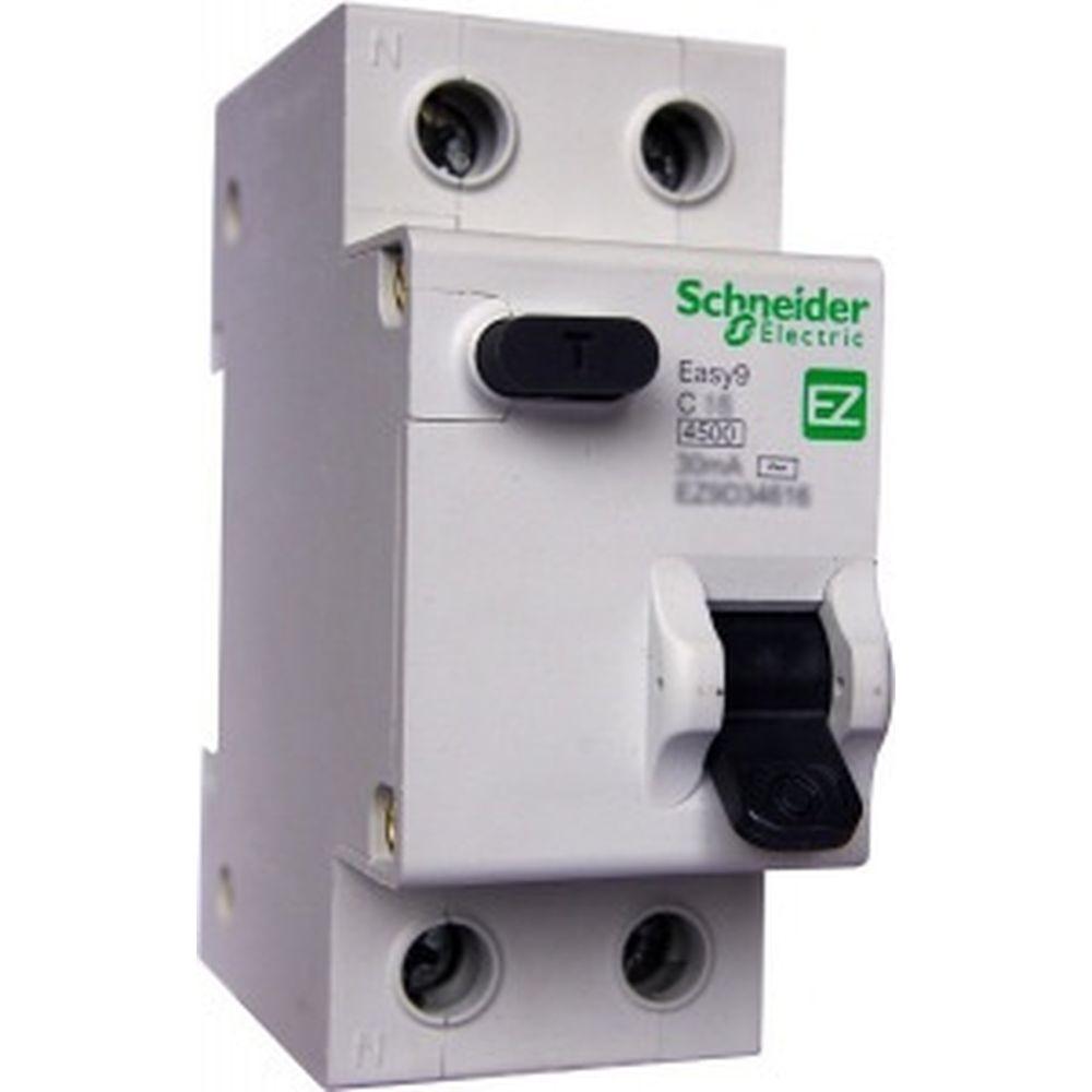 Автоматический выключатель дифференциального тока 1п+N 16А С 30mA тип AC 4.5кА EASY 9 Schneider Electric EZ9D34616