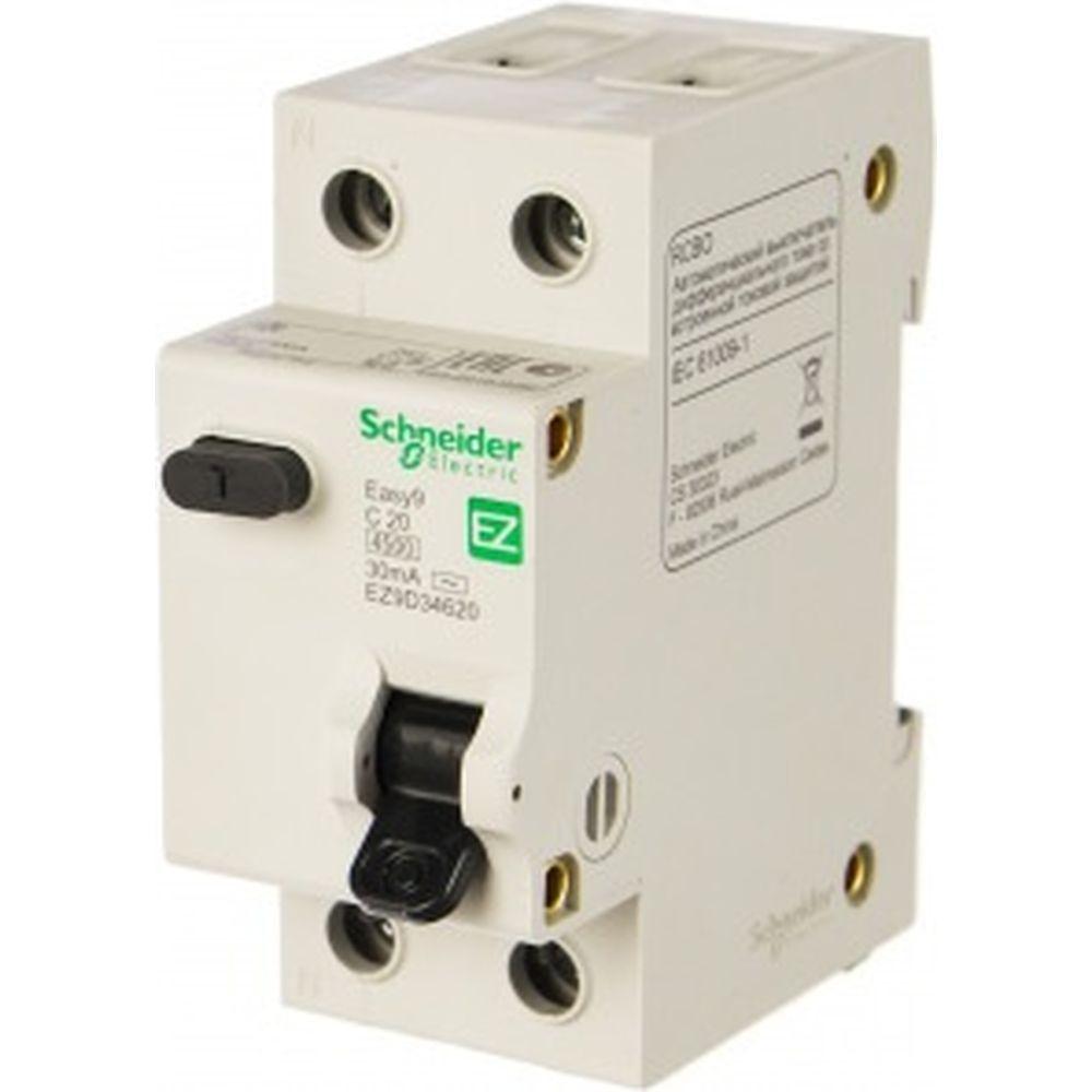 Автоматический выключатель дифференциального тока Schneider Electric 2п 1P+N SchE EZ9D34620 290759