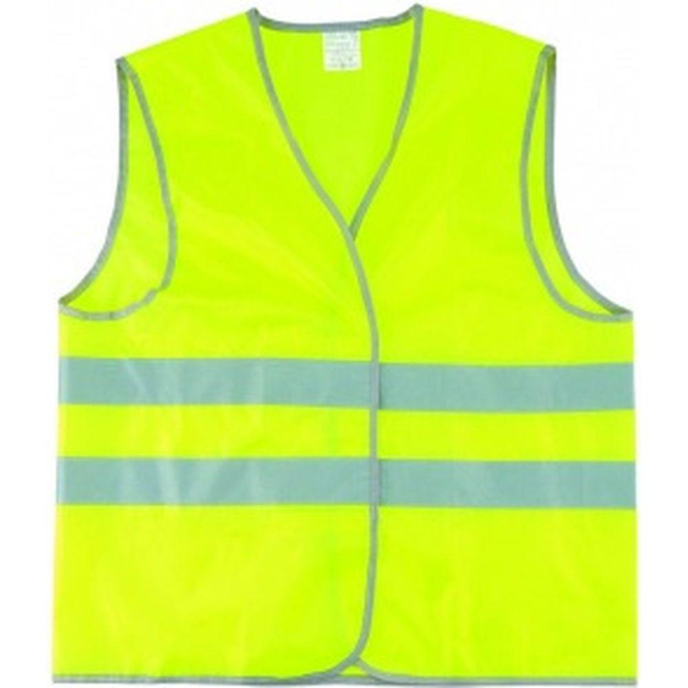 Сигнальный жилет СИБРТЕХ желтый флуоресцентный, размер XL 89515