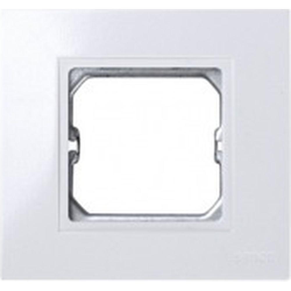 Базовая рамка Simon с вырезом под декоративные вставки, 1 пост, 85х91мм, S27 Play, белый 2701610-030